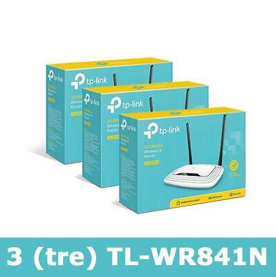 TP-LINK 3 (TRE) TL-WR841N Router Wireless N 300Mbps, Ideale streaming video HD,