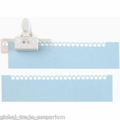 NEW Martha Stewart NOTCHED SQUARE Edge Punch For Paper Craft 42-40107