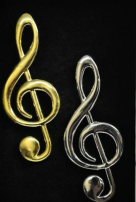 Music Note Fridge Magnet Treble Clef  Brass Or Stainless