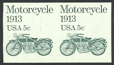 1899a - RARE 5c Motorcycle Imperf Coil Pr - Never Hinged
