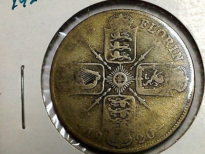 Great Britain 1920 Two Shillings  Silver Florin Better Grade Coin