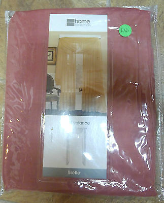 """JCPenney Lisette Scarf Valance YumaRose Sheer 60"""" x 216"""" Window Free Shipping"""