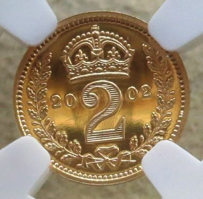 2002 Gold Great Britain 2 Pence Maundy Ngc Proof 69 Ultra Cameo 2,002 Minted