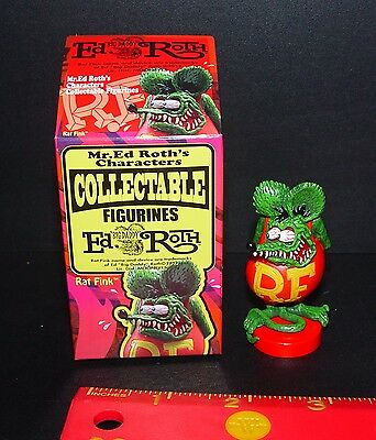OFFICIAL ED ROTH RAT FINK CLASSIC POSE FINK NEW IN OPENED BOX RARE ITEM