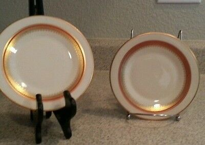 FRANCISCAN MASTERPIECE CHINA -MONACO -SALAD PLATES SET OF TWO FRANCISCAN GOLD