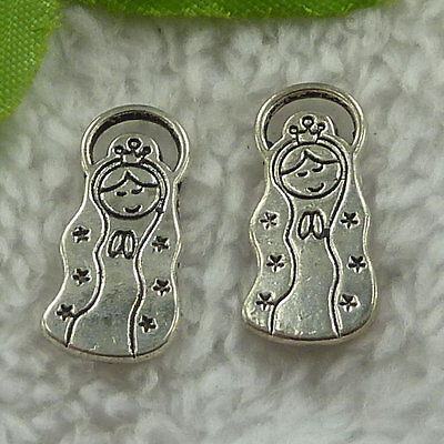 free ship 180 pieces tibet silver girl charms 22x10mm #3396