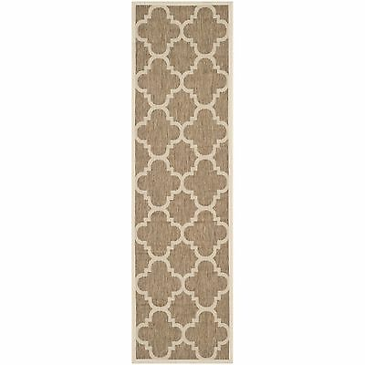 Safavieh Courtyard Quatrefoil Brown Indoor/ Outdoor Rug (2'3 x 10')