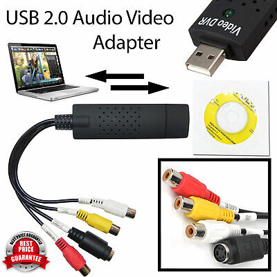USB 2.0 VHS To DVD Converter Audio Video Adapter Easycap Capture Card UK Seller