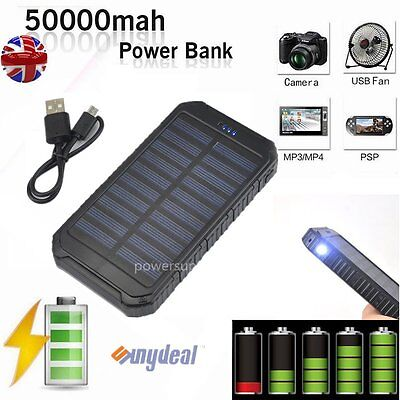 50000mAh Portable External Power Bank Battery Pack Charger for Mobile Phone
