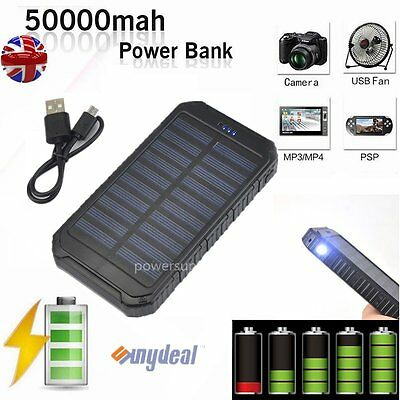 Fast 50000mAh Portable External Power Bank Battery Pack Charger for Mobile Phone