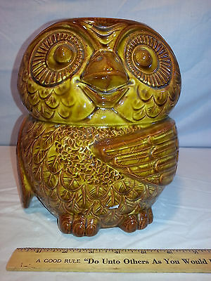 MCCOY 'WOODSY' OWL COOKIE JAR #204 w/REPLACEMENT TOP