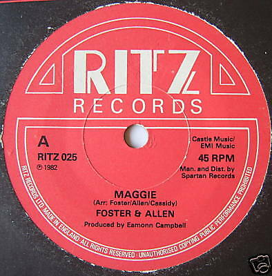 "FOSTER & ALLEN - Maggie - Excellent Condition 7"" Single"