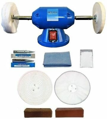 Jewellery Bench Polisher - Grinder 200W With 8pc Jewellery Polishing Kit
