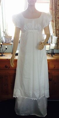 Regency Wedding Dress, Jane Austen, Size 10/12 BNWT Free P&P