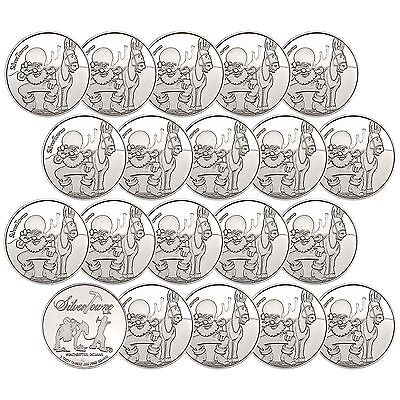Trademark Poker Chip 1oz .999 Fine Silver Round by SilverTowne LOT OF 20