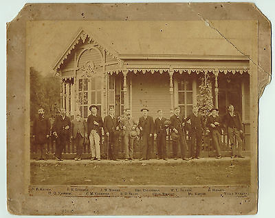 RARE  - Lg Photo - 1888  Excelsior Springs, MO Missouri - Pioneers  All  ID'd