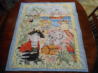 Bazoople Pirates Shipmates Handmade Baby Quilt With Matching Pillow Case 44 X 36