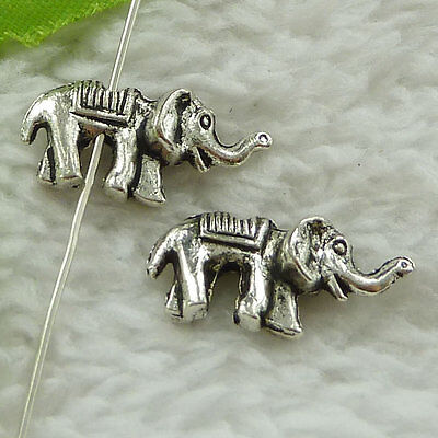free ship 180 pieces tibet silver elephant spacer 20x10mm #3506