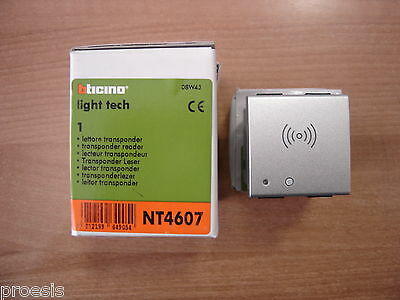 BTICINO NT4607 My Home SCS Light Tech lettore transponder 2 mod per 3530S 3540