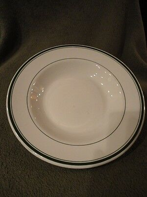 Wellsville China USA Ironstone Cream Soup Bowl Restaurant Ware Vintage