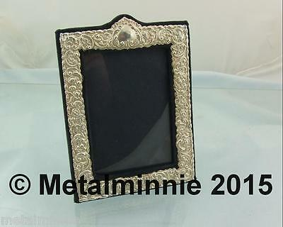 Vintage English Silver Photo Frame 7 Inch By 5.25 1987