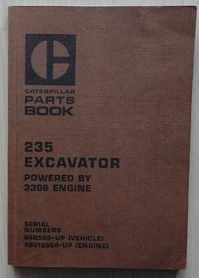 CATERPILLAR Ersatzteilliste 235 EXCAVATOR powered by 3306 engine, 1978