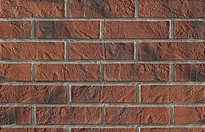 BRICK SLIPS CLADDING WALL TILES FLEXIBLE - 6 Sqm ( m2 ) - DARK BRICK