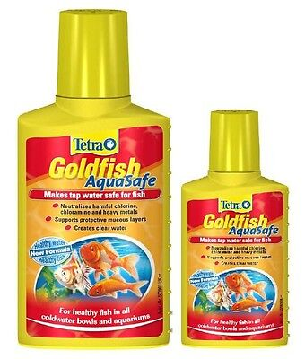 Tetra Aquasafe Goldfish 100ml 250ml Tapsafe Coldwater