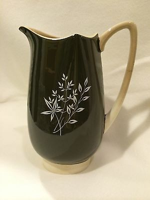 Vintage Carlton Ware Pitcher, Hand Painted, Made In England, Brown And White