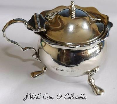 Antique Silver Mustard Pot - Hallmarked Birmingham 1900 64.9G