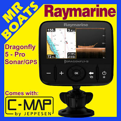 RAYMARINE DRAGONFLY 5 Pro - C Map CARD - Fishfinder Chartplotter Combo FREE POST