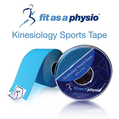 Kinesiology Sports Strapping Tape   3 Blue Rolls