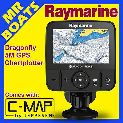RAYMARINE DRAGONFLY 5M ✱ C Map AUSTRALIAN CARD ✱ Chartplotter GPS 5 m C-Map NEW