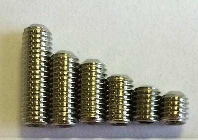 M3 M4  M5 M6Stainless Steel A2 Din:916 Grub Screw Plain Cup Point *free Post**