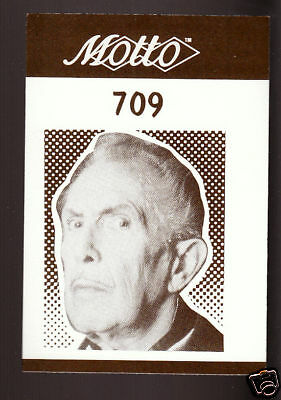 VINCENT PRICE Actor 1987 MOTTO BOARD GAME CARD #709