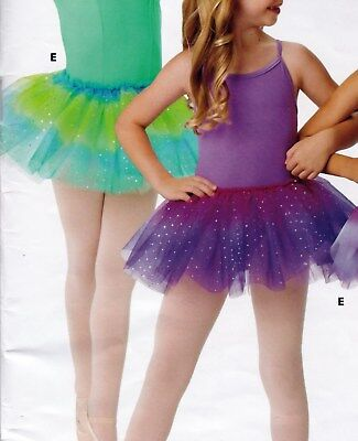 NWOT Sheer Ombre Dance skirt Use alone or as a tutu topskirt girls Small hologrm