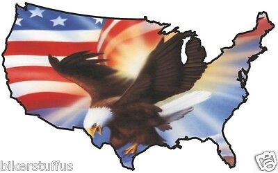 Usa Flying Eagle Sticker United States Map Flag Bumper Sticker Laptop Sticker