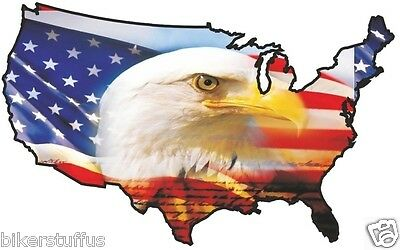 Usa Eagle Head Sticker United States Map Flag Bumper Sticker Laptop Sticker