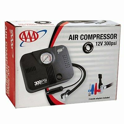 4LifeLine AAA 300 PSI 12 Volt DC Air Compressor by AAA Black  NEW FREE SHIPPING
