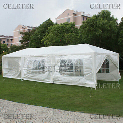 White 3x9 Meter Outdoor Marquee Gazebo Party Wedding Tent With 8 Sidewalls ZOTP3