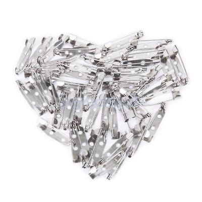 50pcs BROOCH BACKS BAR PINS 15MM-25MM(0.59-1inch) Safety Rolling Catch DIY