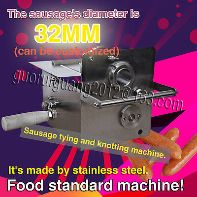 free shipping, Hand-rolling sausage tying machine,sausage knotting machine