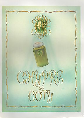 ▬► PUBLICITE ADVERTISING AD PARFUM PERFUME COTY Chypre 1949