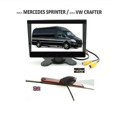 "MERCEDES SPRINTER VW CRAFTER  REVERSING sony ccd camera  7"" monitor  KIT 50"