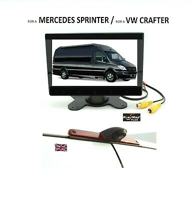 mercedes sprinter reversing camera sonyccd Brake Light kit 7 inch monitor