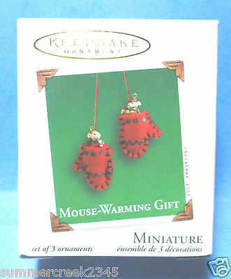 "Hallmark ""Mouse-Warming Gift"" Miniature Ornament 2003"