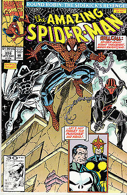AMAZING SPIDERMAN 356...NM-...1991...Punisher,Nova!...Mark Bagley...Bargain!