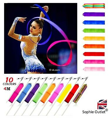 Gymnastic Gym Dance Ribbon Rhythmic Art Gymnastic Streamer Baton Twirling Rod 4M