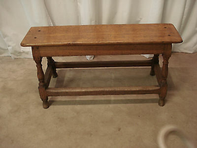 A  Late Victorian Oak Bench