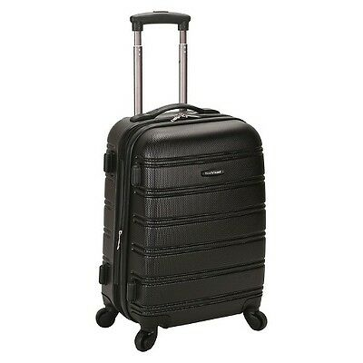 """Rockland Luggage Melbourne Expandable ABS Carry On - Black (20"""")"""
